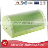 Freshness Preservation 0.4MM Stainless Steel Bread Bin food box With Plastic Lid