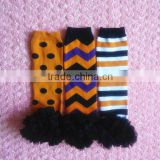 Baby Thanksgiving Day Ruffle Leg Warmers, Baby Knitting Pattern Leg Warmer, Cotton Warm Leg Warmers