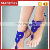 V-981 Fashion beach crochet infinity barefoot sandals crochet dance leg chain ankle bracelet indian foot jewelry