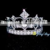 beautiful silver rhinestone crystal kings crown for sale