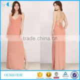 Customize special pattern sexy backless hippie maxi dress fashion