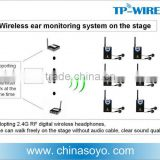 2.4G multi-channel wireless in ear monitor system for stage