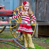 Plus size western girl boutique clothes baby outfit children christmas costume plus size dress