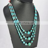 Big Corico Lake !! Coral & Turquoise 925 Sterling Silver Necklace, 925 Sterling Silver Jewelry Manufacturer, Silver Jewelry