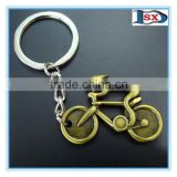 Zinc alloy casting 3D bicycle keychain/metal bike shaped keyring for sports meeting