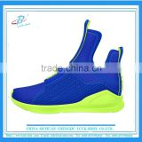 high cut blue running sport shoe , outdoor breathable running shoe, factory wholesale sport running shoe with high quality