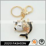 Wholesale key chain fishing reel,new fish shaped keychain/