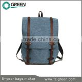 New Products 2014 Canvas And Leather Backpacks bags                                                                         Quality Choice
