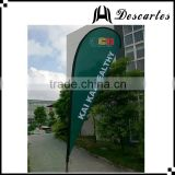 Double side teardrop flying banner/beach flags/advertising flags and banners for customized