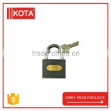 3 Iron Keys Grey Iron Padlock Iron Gate Door Lock                                                                         Quality Choice
