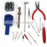 RT002 Alibaba Cheapest Watches Repair Tools 16 pcs a set Include tweezers hammer screwdriver etc Watches Accessories Tools
