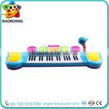 High quality toy piano with microphone wholesale educational toys plastic musical instruments