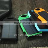 Two USB solar power bank mobile phone solar charger