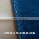 Polyester Cotton T/C Stretch Corduroy Blue Color Woven Fabric 24ales 20x16+70D/44x134, 210gsm