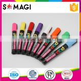 8 Pack Fluorescent colors Anti-wipe Liquid Chalk Markers with Reversible 6mm Tip for Glass, Window & LED Art Menu Writing Board