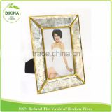 2016 HOT glass & brass display case=> Double Sided Pictures 6 x 4 mom metal wedding couple shadow box for women sex photo frame