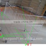 Competive Price Chrome Plated moveable supermarkets wire baskets