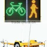 Traffic signs P10 single yellow color led display/led screen/led message electronic traffic signs
