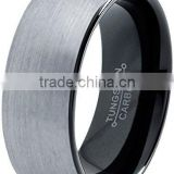 Alibaba China Tungsten Wedding Band Ring 8mm Men Women Comfort Fit Domed Brushed tungsten ring