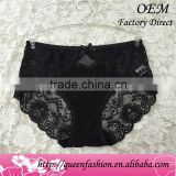 2015 Antibacterial butt lift panty sexy black quick dry Lace elegant brief underwear of ODM/OEM service