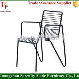 modern metal wire mesh outdoor chair with arm