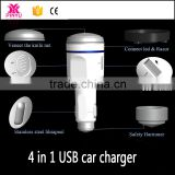 Harmmer tip for urgent things LED and razor for life 4 in 1 car charger power bank for phone charge outside
