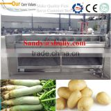 continuous screw radish washing and peeling machine 0086-15037185761