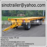 20ft container flat top trailer with deck over wheels