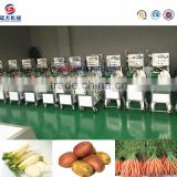 Hot selling commercial potato ginger fruit peeler and slicer machine