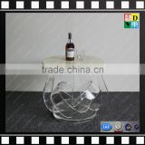 Clear acrylic leg marble center table customzied PMMA coffee side table for wholesale from china manufacturer