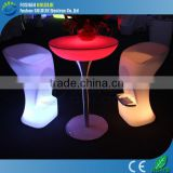 With glass top led cocktail table for party / nightclub GKT-106DC