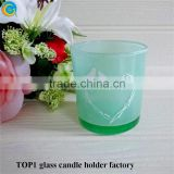 flameless led votive candles Glass Candle Holder Tealight Candlestick Party Decoration