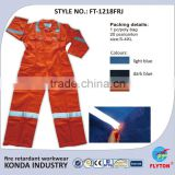High Performance Dupont Nomex fire retardant working reflective cotton coverall FT-1218FRJ