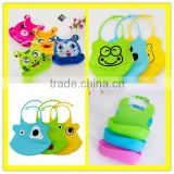 Shuoyang High quality plain washable waterproof silicone baby bib\Best sell on Alibaba silicone baby bib