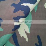 65 Polyester and 35 cotton 210gsm high strength ripstop military uniform camouflage fabric