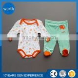2015 boy 100% cotton baby jumper set baby long romper newborn baby clothes