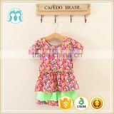 african fabric clothes for little girl baby clothing set shorts sleeve tops cotton kid