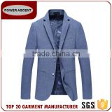 Wholesale Latest Design Royal Mens Fashion 2 Button Blue Suit Jacket Blazer With Sleeve Cuff