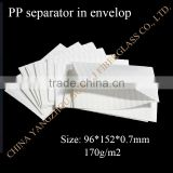 PP envelop battery separator for lead-acid battery