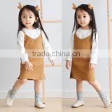 B41005A Children's spring autumn sleeveless strap dress
