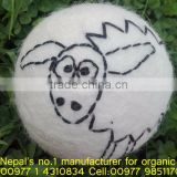 High quality natural white laundry balls/Nepal hand made felted dryer balls