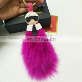 Hot sale fox tail shape fur accessory keyrings/pendant wholesale
