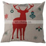 Cheap promotional custom pillow cover fashion christmas decorative fabric painting designs cushion cover
