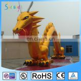 Golden Nylon Inflatable Zenith Dragon Giant Inflatable Dragon