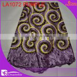 african lace fabrics LA1072 purple
