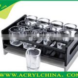 acrylic wine glass holder plastic wine glass holder plate for bar