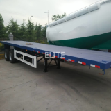 12.5m container semi trailer 40ft 2 axle flatbed trailer for sale low price