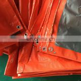 orange insulated waterproof PE tarpaulin used for truck covering