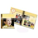 photo album printing and binding,printed paper cover baby photo album