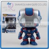 Mini Qute Funko Pop Marvel Avenger super hero Captain America action figures collection cartoon models educational toy NO.FP 25